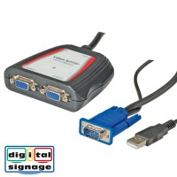 VALUE Portable VGA Video Splitter, 2-way 250 MHz