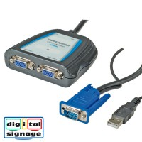 VALUE Portable VGA Video Splitter, 2-way 450 MHz