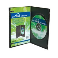 VALUE DVD Slim Case Single, 7 mm, black 5 pcs.