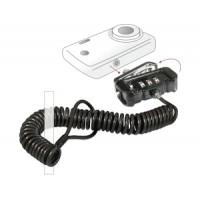 Drošības kabelis kamerām un videokamerām, 3 ciparu kodu slēdzene, 1.80m, melns