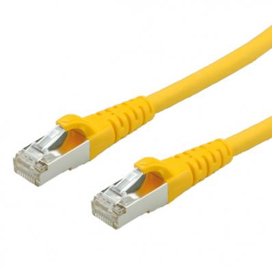 ROLINE S/FTP Patch Cord Cat.6, halogen-free, yellow, 0.5 m