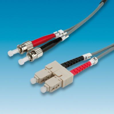 ROLINE Fibre Optic Jumper Cable 50/125µm ST/SC, grey 2 m