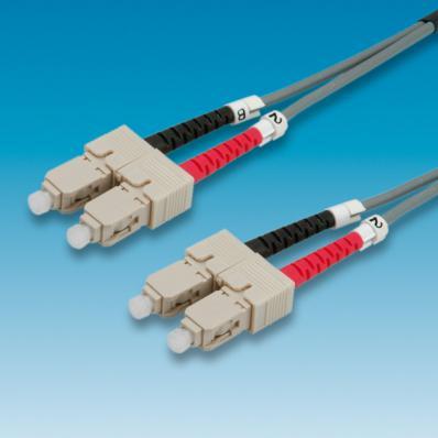 VALUE Fibre Optic Jumper Cable 50/125µm SC/SC, grey 2 m
