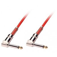 "1m Guitar Lead - 1/4"" Right Angled Jack to 1/4"" Right Angled Jack, Red"
