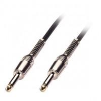 Elektrisko instrumentu kabelis, taisns/taisns, 6m, melns