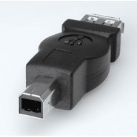 USB 2.0 adapteris, tips A/F - tips B/M