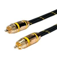 ROLINE GOLD Cinch Cable, simplex M - M, Yellow 10.0m