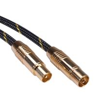 ROLINE GOLD Antenna Cable, Male - Female 10.0m