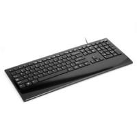 Multimedija zema profila klaviatūra OK-235B, SHINY CYGNUS, USB, melna, (40955)