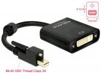 Delock Adapter mini Displayport 1.2 male with screw DVI female 4K Active black