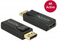 Delock Adapter Displayport 1.2 male HDMI female 4K Active black