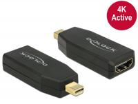 Delock Adapter mini Displayport 1.2 male HDMI female 4K Active black