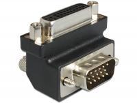 Delock Adapter DVI 24+5 pin female VGA 15 pin male 270 angled