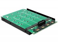 Delock 3.5 Converter 4 x SATA 7 Pin 4 x M.2 NGFF