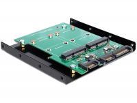 Delock Converter SATA 22 pin + 7 pin 2 x mSATA with 3.5 Frame
