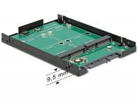 Delock 2.5 Converter SATA 22 Pin 2 x mSATA with RAID