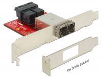 Delock Adapter 2 x Mini SAS HD SFF-8643 female 2 x Mini SAS HD SFF-8644 female Low Profile Form Factor