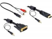 Delock Cable DVI - HDMI + Sound male-male 5 m