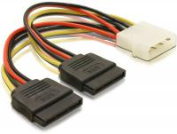 Delock Cable Power SATA HDD 2x 4pin male