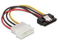 Delock Cable Power SATA HDD Molex 4 pin male with metal clip – straight
