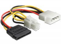 Delock Cable Power Molex 4 pin male SATA 15 pin female + P4 male
