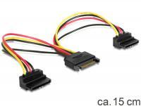 Delock Cable Power SATA 15pin 2x SATA HDD – angled