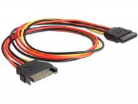 Delock Extension Cable Power SATA 15 Pin male SATA 15 Pin female 50 cm