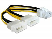 """Delock Cable PCI Express power supply 8pin 2x 5¼"""" for graphics card"""