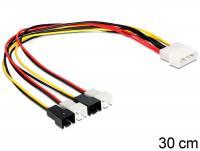 Delock Cable power Molex 4 pin male 4 x 2 pin fan