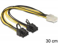 Delock Cable PCI Express power supply 6 pin female 2 x 8 pin male