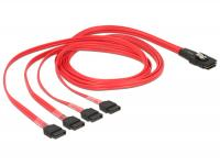 Delock Cable mini SAS SFF-8087 4 x SATA 7 pin 1 m