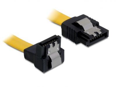 Delock Cable SATA 6 Gbs downstraight metal 20 cm