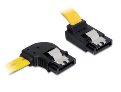 Delock Cable SATA 6 Gbs leftup metal 50 cm