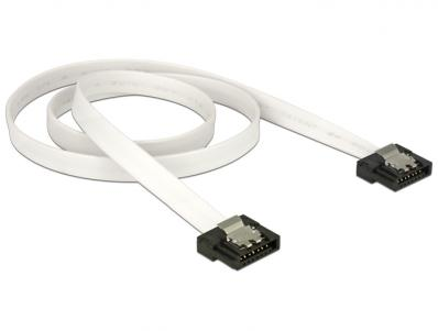 Delock Cable SATA FLEXI 6 Gbs 50 cm white metal