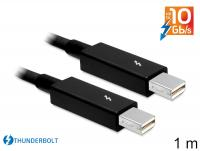 Delock Cable Thunderbolt™ male Thunderbolt™ male 1 m black