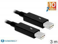 Delock Cable Thunderbolt™ male Thunderbolt™ male 3 m black