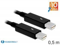 Delock Cable Thunderbolt™ male Thunderbolt™ male 0.5 m black