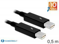 Delock Cable Thunderbolt™ male Thunderbolt™ male 0.5 m black