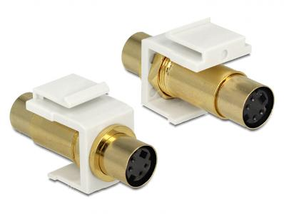 Delock Keystone module Mini-DIN 4 pin female female gold plated