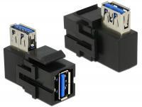 Delock Keystone Module USB 3.0 A female USB 3.0 A female 90 angled black