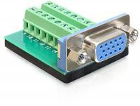 Delock Adapter VGA female Terminal Block 16pin