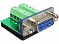 Delock Adapter Sub-D 9 pin female Terminal block 10 pin
