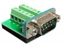 Delock Adapter Sub-D 9 pin male Terminal block 10 pin