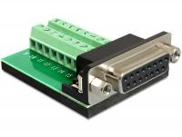 Delock Adapter Sub-D 15 pin Gameport female Terminal block 16 pin