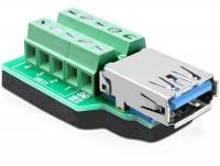 Delock Adapter USB 3.0-A female Terminal Block 10 pin