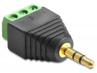 Delock Adapter Stereo plug 3.5 mm Terminal Block 3 pin