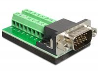 Delock Adapter VGA male Terminal Block 16 pin