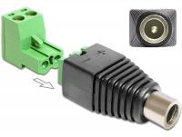 Delock Adapter DC 2.5 x 5.5 mm female Terminal Block 2 pin 2-part