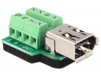 Delock Adapter FireWire A 6 pin female Terminal block 8 pin