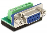 Delock Adapter Sub-D 9 pin female Terminal block 6 pin